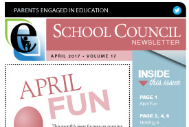 Parents Engaged in Education | April, 2017 Newsletter