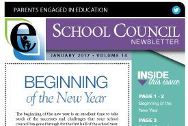 January, 2017 Newsletter