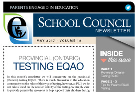 Parents Engaged in Education | May, 2017 Newsletter