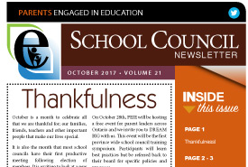 Parents Engaged in Education | October, 2017 Newsletter