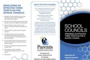School Councils – 3 Year planning