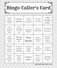 Ice Breaker Bingo