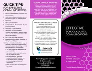 Effective School Council Communications