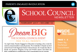 Parents Engaged in Education | February, 2017 Newsletter