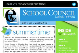 Parents Engaged in Education | June, 2017 Newsletter