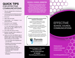 Effective School Council Communications