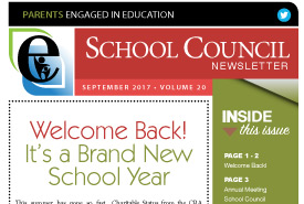 Parents Engaged in Education | September, 2017 Newsletter